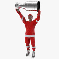 hockey player stanley cup 3D model