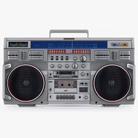 3D retro boombox conion c-100f