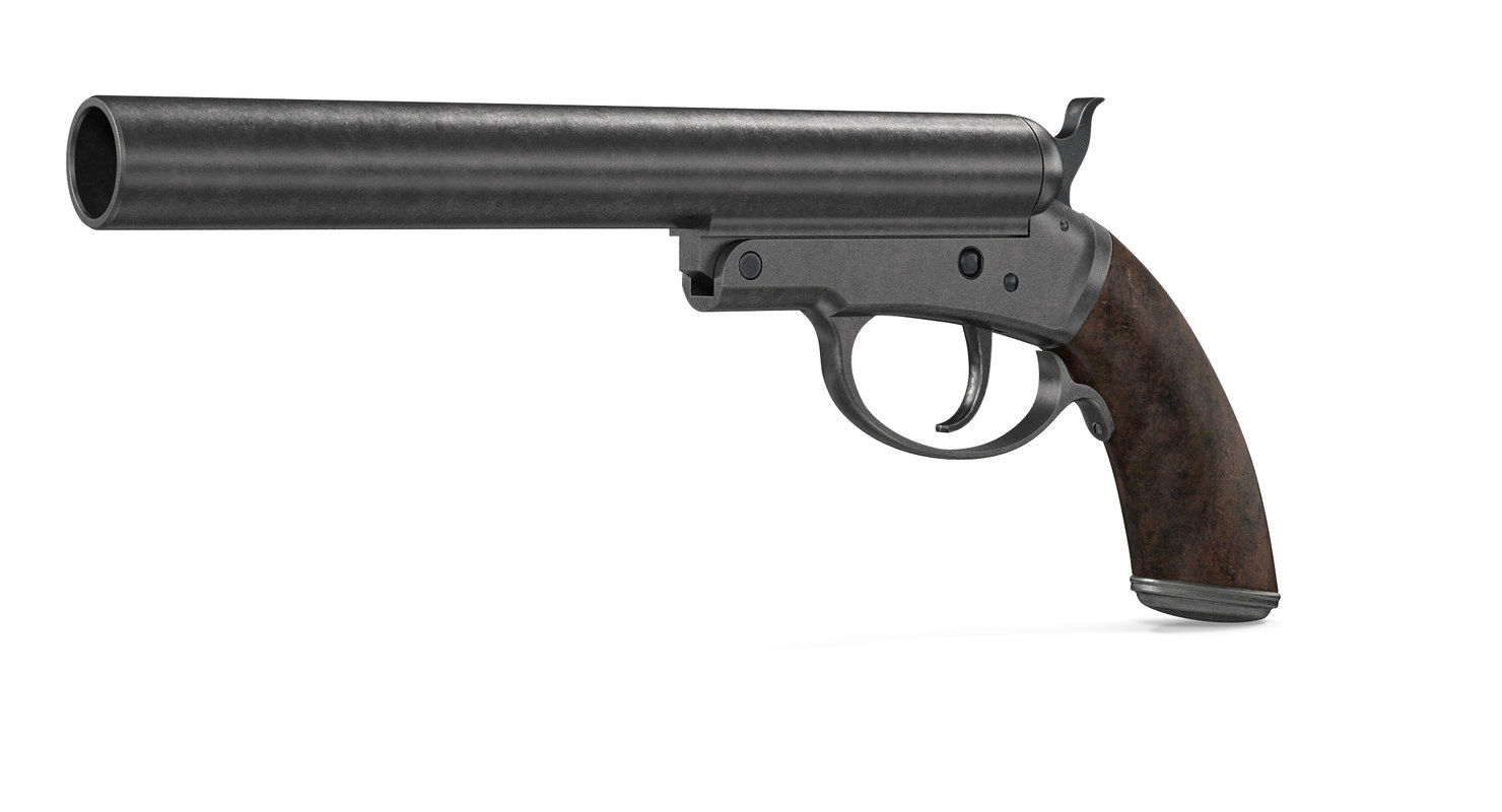 pistol 12 caliber 3D