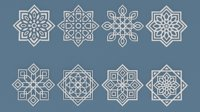 Collection of Arabic ornaments