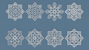 3D arabic ornaments