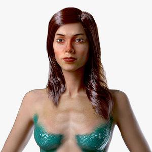 3D model mermaid