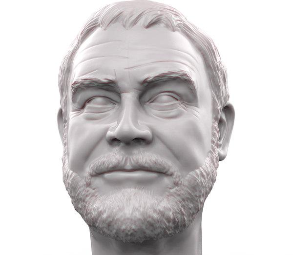printable portrait sean connery model