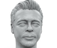 3D model portrait sculpture benicio del