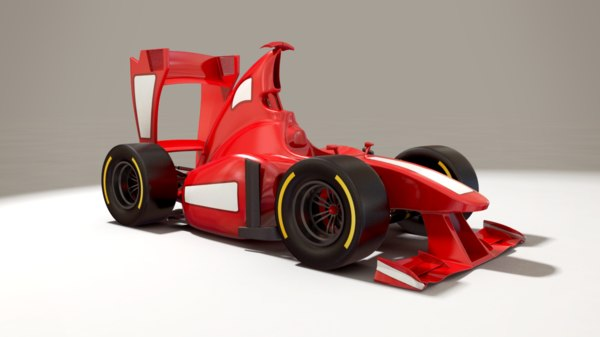 cartoon formula 1 - 3d x