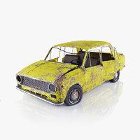 3d model rusty vaz 2101