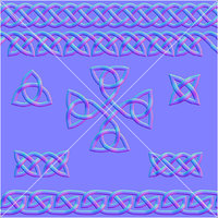 Celtic Ornament Normal Map Set