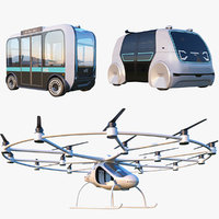 volocopter vehicle 3D model