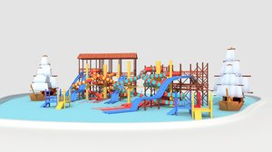 3D outdoor aqua water parc