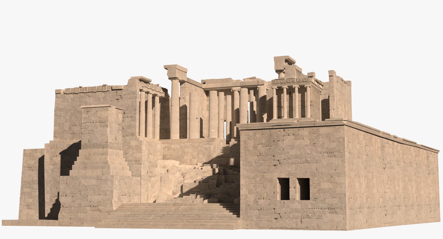 3d max propylaea gateway acropolis