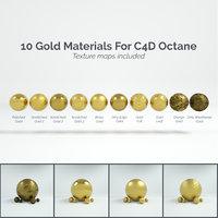 10 Gold Materials For Cinema4D Octane Render