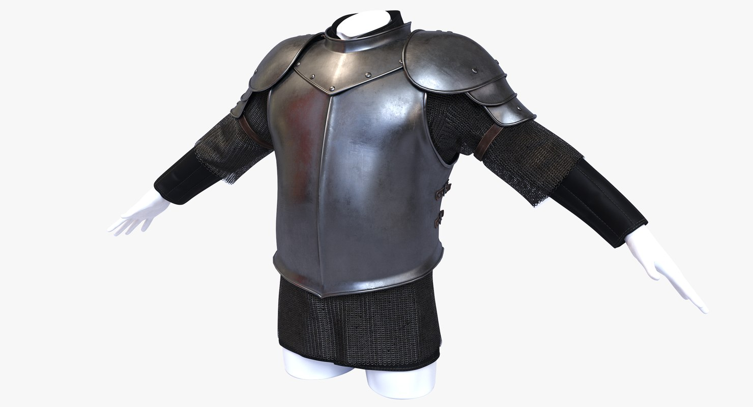 Medieval Fantasy Half Plate Armor 3d Model Half plate consists of shaped metal plates that cover most of the wearer's body. half plate armor