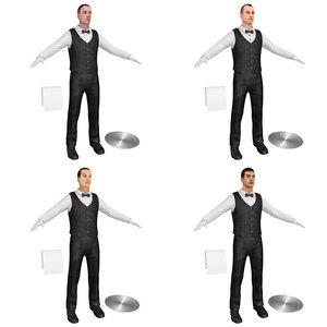 pack waiter 3D model