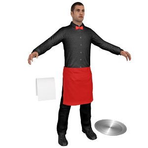 waiter tray 3D