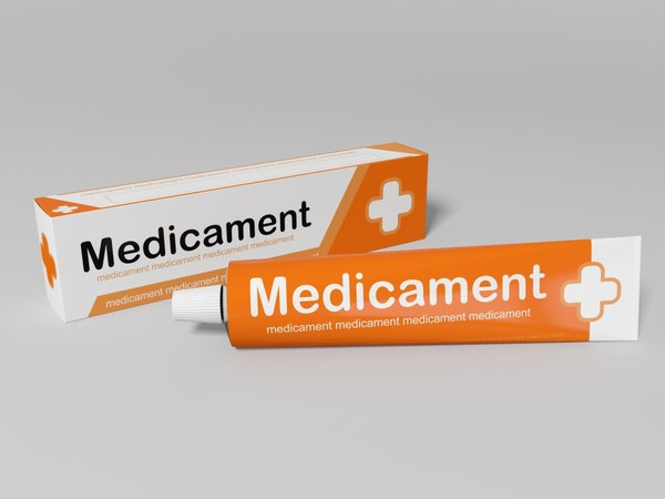 box ointment 3D model