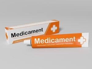 box ointment 3D model