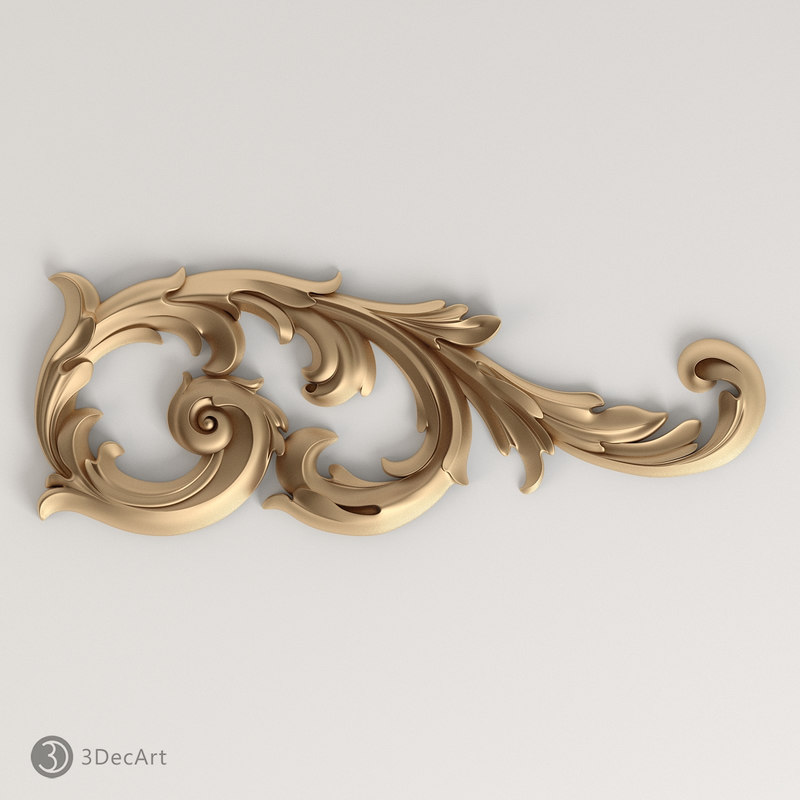 carved scroll cnc 3d obj