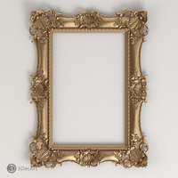 3D model of a carved frame