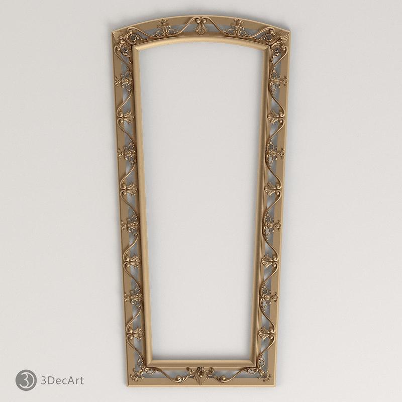 3d carved frame model