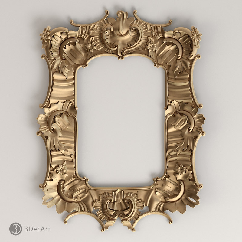 frame rococo style 3d model