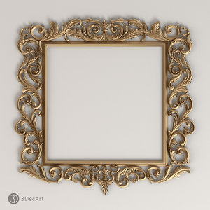 decorative frame baroque style 3d max