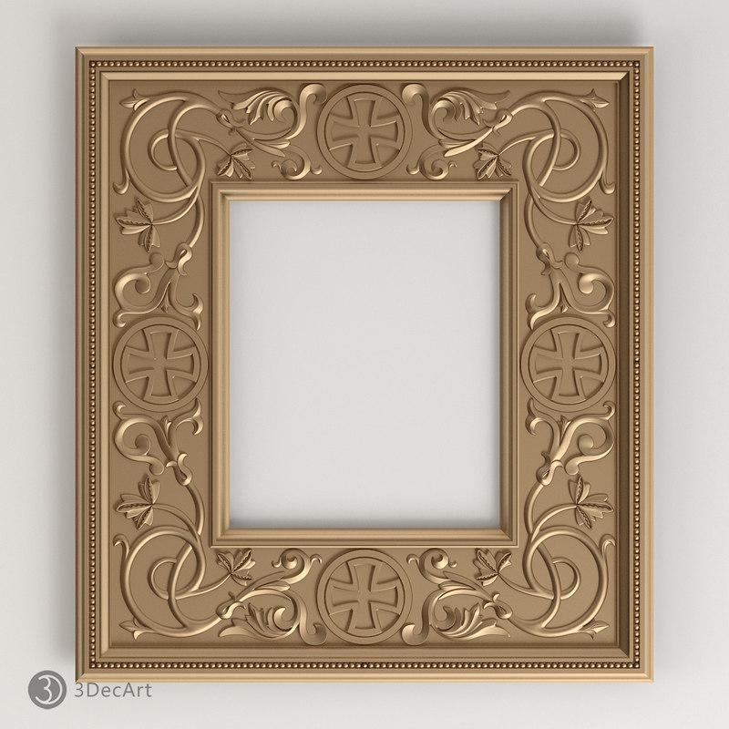 3d carved frame