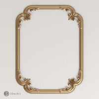 3d carved frame model