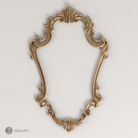 Carved frame 3D model | Rm_017