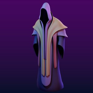 3D robe mage model