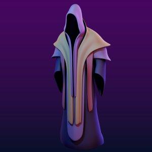 3D robe mage model