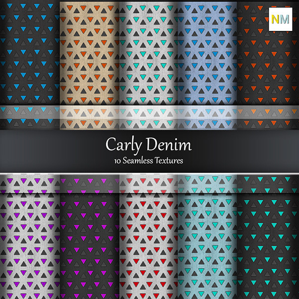 Carly Denim 10 Seamless Fabric Textures with Pattern