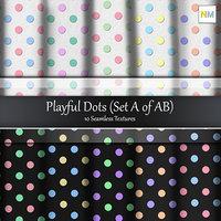 Playful Dots Seamless Cotton Fabric Textures