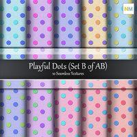 Playful Dots B Seamless Cotton Fabric Textures