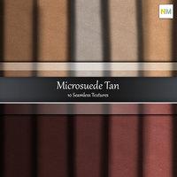 Tan Microsuede 10 Seamless Fabric Textures