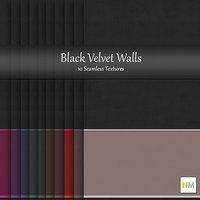 Black Velvet 10 Seamless Wallpaper Textures with panel