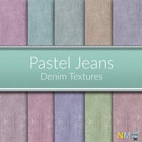 Pastel Jeans 10 Seamless Denim Fabric Textures