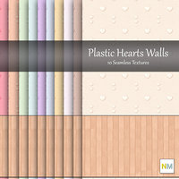 Plastic Hearts Wallpaper 10 Textures with wood panel