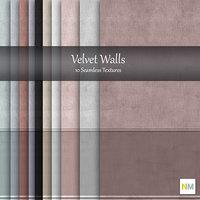 Velvet Wallpaper Textures with panel