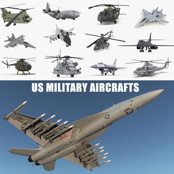 3D military aircrafts model