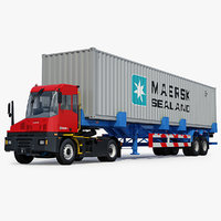 Kalmar T2 Terminal Tractor and Container Trailer