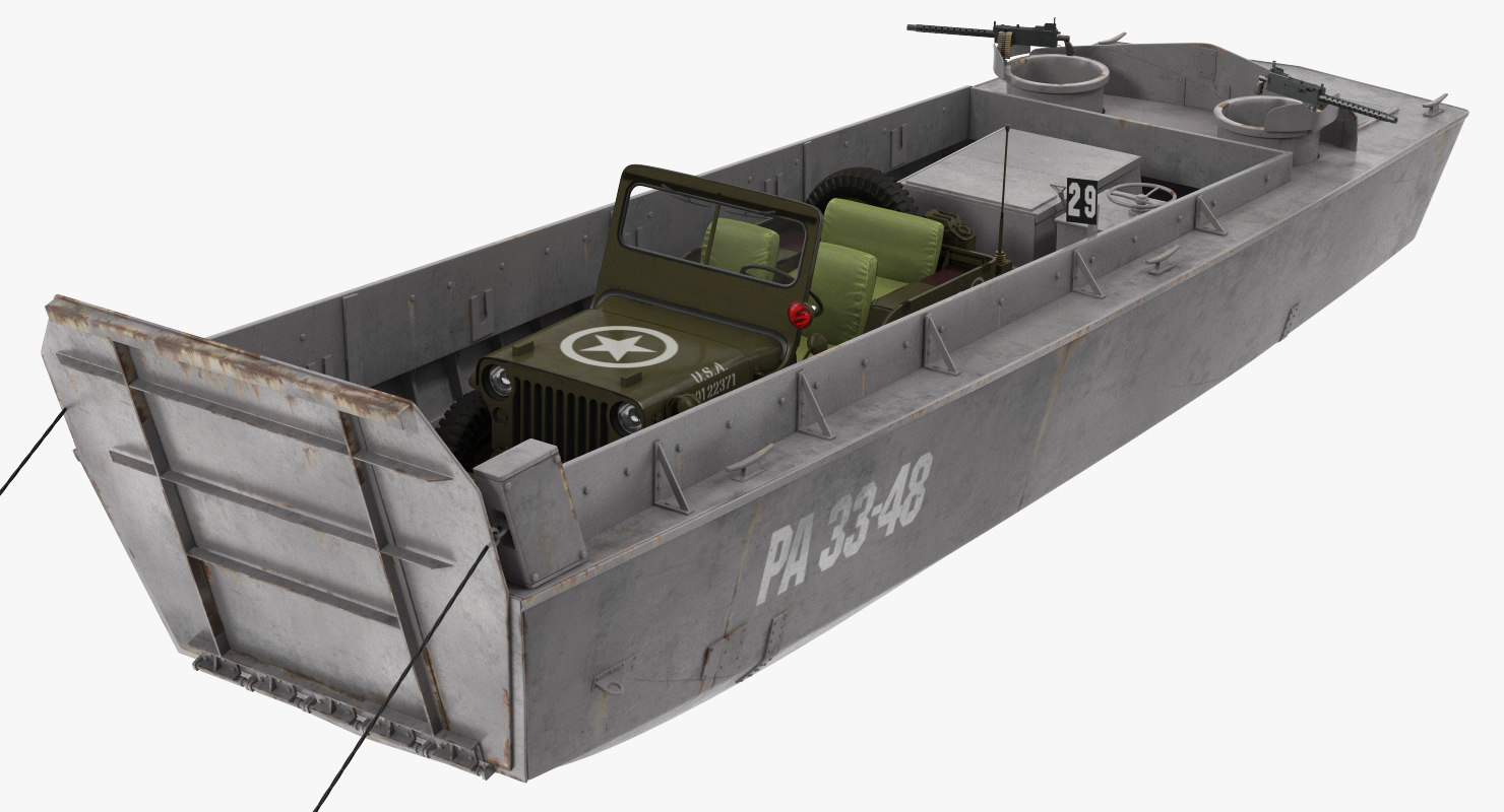 lcvp boat jeep willys model