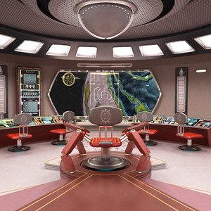starship bridge 3D model