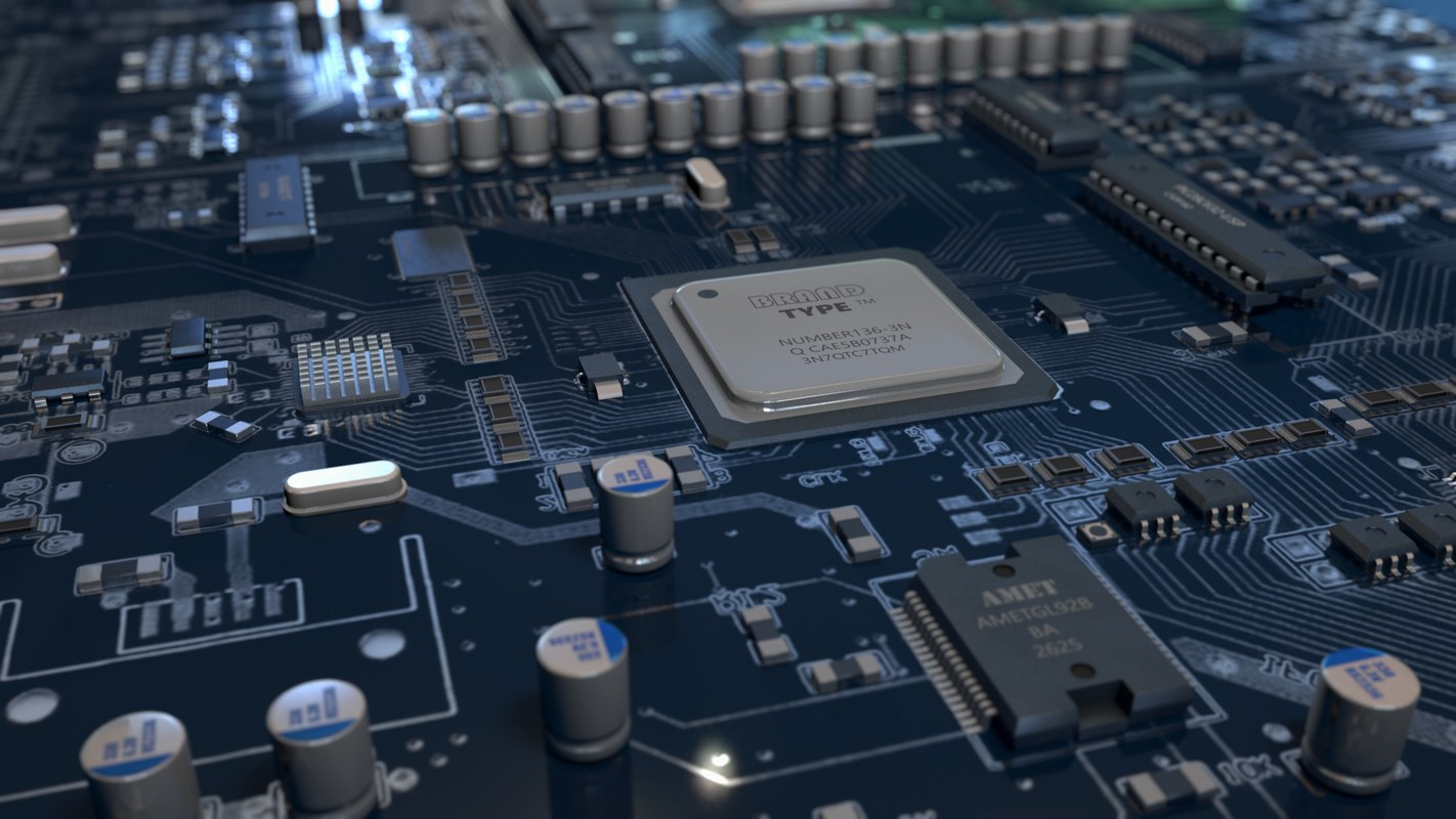 3d circuit board turbosquid 12462353d circuit board