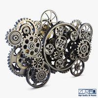 Gear Mechanism Low Poly v 2
