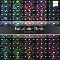 Hallunation Florals 10 Seamless Textures