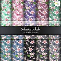 Sakura Bokeh 10 Seamless Textures