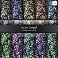 Aaragon Damask Fabrics 10 Seamless Textures