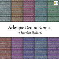 Arlesque Denim Fabrics 10 Seamless Textures