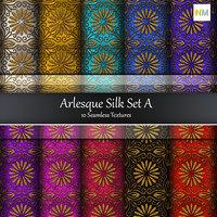 Arlesque Silk Set A  Fabrics 10 Seamless Textures