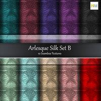 Arlesque Silk Set B Fabrics 10 Seamless Textures